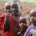 Local children from one Rwandan village.