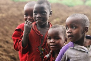 Local children from one Rwandan village.